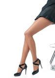 Pés 'sexy' e saltos elevados Fotografia de Stock Royalty Free