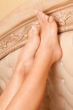 Pés Womanish Imagens de Stock Royalty Free
