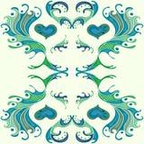 Pétala abstrata colorida do papel de parede do fundo Ilustração do Vetor
