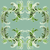 Pétalas da flor da pintura da cor do quadro Ilustração Stock