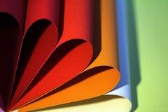 pétalas do cartão colorido Fotos de Stock Royalty Free