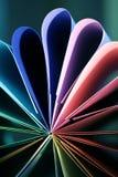 pétalas do cartão colorido Foto de Stock Royalty Free