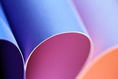 pétalas do cartão colorido Imagens de Stock Royalty Free