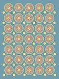 Pétalas e círculos do país no Aqua macio Foto de Stock Royalty Free