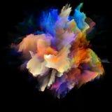 Pétales d'explosion d'éclaboussure de couleur illustration de vecteur