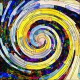 Pétales de couleur en spirale illustration libre de droits