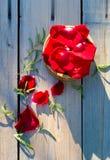Pétales des roses rouges Image stock
