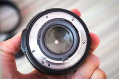 Pétales fermés de lentille du diaphragme photographie stock libre de droits