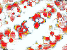 Pétales rouges dans la tempête tôt d'hiver Photographie stock libre de droits