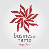Logo rouge de fleur Photos libres de droits