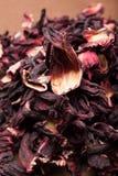 Pétales secs des ketmies, thé pour la relaxation photos libres de droits