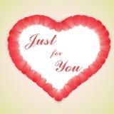 Pétalos color de rosa del amor Fotografía de archivo libre de regalías