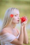 Pétalos finos del perfume Imagen de archivo