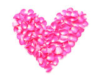 Pétalos rosados del corazón Imágenes de archivo libres de regalías