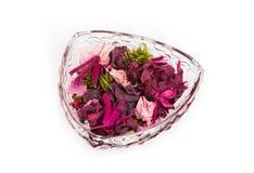 Pétalos secados en un florero Fotografía de archivo