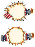 Pétard americana Starbursts illustration de vecteur