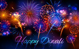 Pétard sur le fond heureux de vacances de Diwali pour le festival léger de l'Inde Images stock
