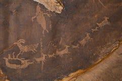 pétroglyphe Photos stock