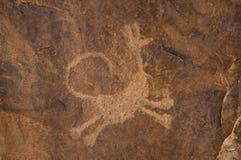 pétroglyphe Photographie stock