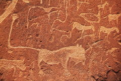 Pétroglyphe africaine images stock