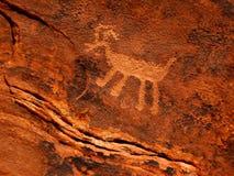 Pétroglyphe historique d'Anasazi Images libres de droits