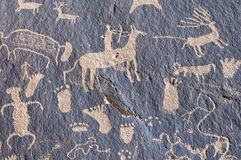 pétroglyphe indienne Photo libre de droits