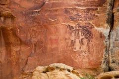 Pétroglyphe indienne antique image libre de droits