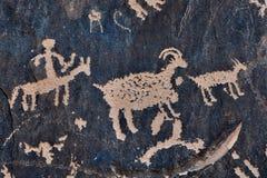 Pétroglyphe sur la roche Photos libres de droits
