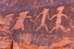 Pétroglyphes Photo libre de droits
