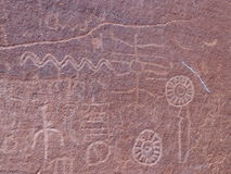 Pétroglyphes Image stock