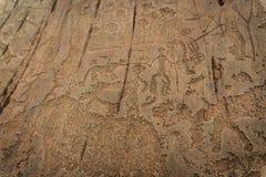 Pétroglyphes, altai, Kalbak-Tash Images stock