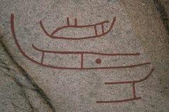 pétroglyphes antiques Photographie stock libre de droits