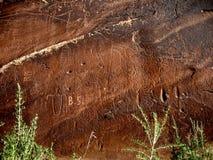 Pétroglyphes d'île de sable Photo stock