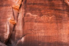 Pétroglyphes d'Anasazi Photos stock