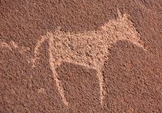 Pétroglyphes dans Twyfelfontein Image libre de droits