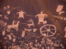 Pétroglyphes de natif américain Photos libres de droits