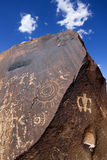 Pétroglyphes de natif américain Photo stock