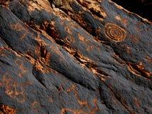 Pétroglyphes historiques d'Anasazi Photographie stock libre de droits