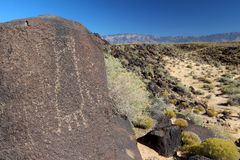 Pétroglyphes, monument national de pétroglyphe, Albuquerque, Nouveau Mexique Photographie stock