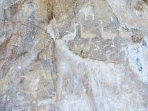Pétroglyphes sur le lac Baïkal Image libre de droits