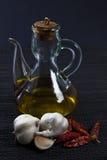 Pétrole, ail et /poivron Photo libre de droits