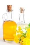 Pétrole avec une renoncule de fleur image stock