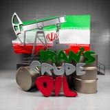 Pétrole brut de l'Iran Photo stock