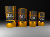 pétrole d'or illustration stock