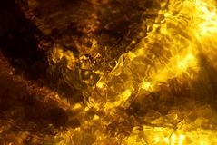 pétrole d'or Image stock