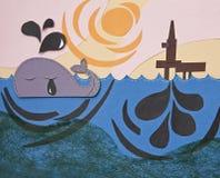 Pétrole dans l'océan Photo libre de droits