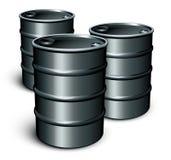 pétrole de barils Photographie stock