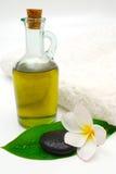 Pétrole de massage Photo libre de droits