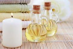 Pétrole de massage Photo stock