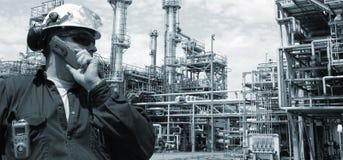 Pétrole, essence et industrie, pouvoir et énergie Photos libres de droits